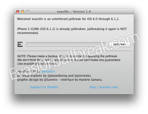 Download Evasi0n UnTethered Jailbreak 6.1 iOS 6 Utility, 6.0.1 And 6.0.2