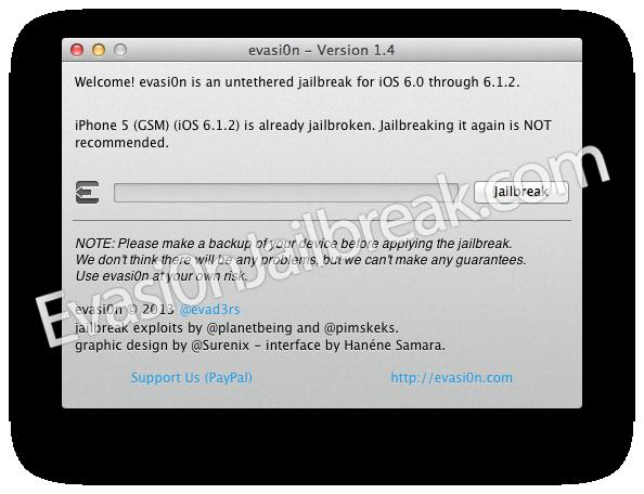 Download Evasi0n UnTethered Jailbreak 6.1 iOS 6 Utility, 6.0.1 And 6.0.2